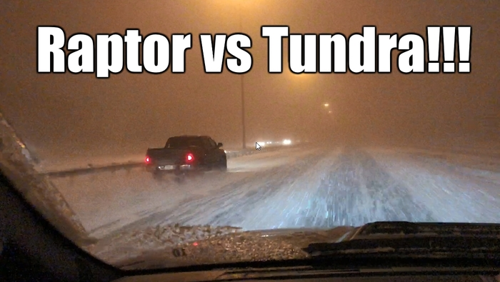 2018 Ford Raptor F 150 Vs Toyota Tundra In A Snow Storm